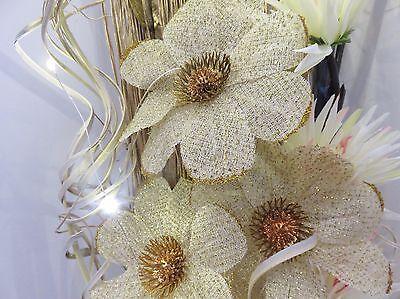 BF79 24*10cm 2PC Flower Embroidered Lace Trim Sewing Applique Dress veil Decor