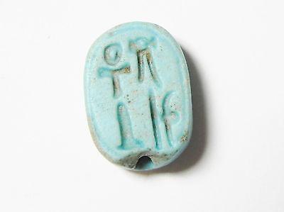 Zurqieh - Ancient Egypt , Faience Scarab 19Th Dynasty. 1300 B.c