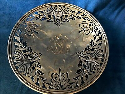 1907 Nouveau Sterling Silver Whiting Manufacturing Reticulated Platter 2