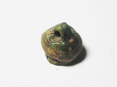 Zurqieh - Ancient Egypt - 18Th Dynasty , 1400 B.c , Faience Bead 3