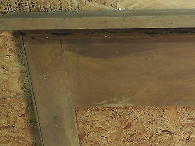 Antique 19c American Grain Painted Fireplace Mantel - Pine & Square Nail VR 2