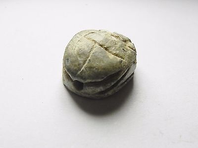 Zurqieh - Ancient Egypt - New Kingdom . Steatite Scarab , Beautifull .1400 B.c 3