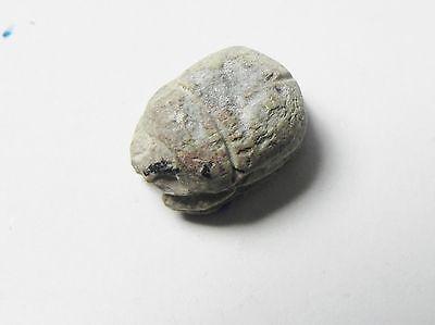 Zurqieh -Af297- Ancient Egypt , New Kingdom Stone Scarab. 1400 B.c 2