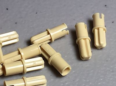 Technic .LEGO Parts~ Pin Long without Friction Ridges Lengthwise x202 TAN 6