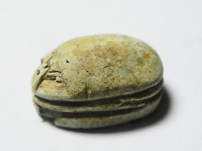 Zurqieh -Af638- Ancient Egypt ,2Nd Intermediate Stone Scarab. 1782 - 1570 B.c 3