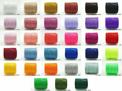 1mm Superior Nylon Chinese Knot Cord Shamballa Macrame Beading String - 75yards 2