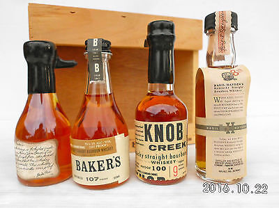 Jim Beam Small Batch Miniature Set In Timber Cabinet -Features Round Knob Creek! 9