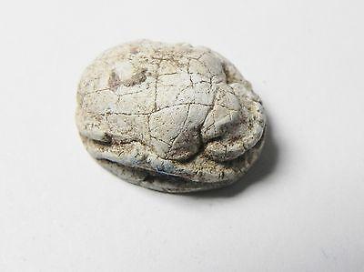 Zurqieh -Af341- Ancient Egypt , New Kingdom Stone Scarab. 1400 B.c 4