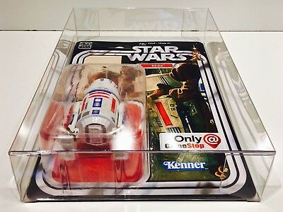 1 Clear Protector For R5-D4 ONLY!  STAR WARS 40TH Anniversary Display Case Box 8