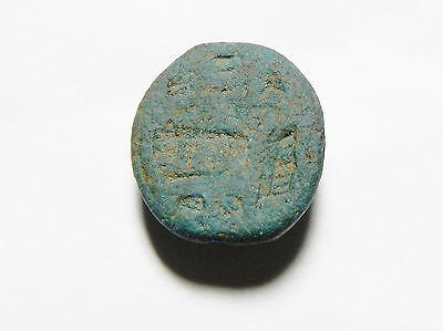 Zurqieh -Ancient Egypt - 18Th Dynasty Faience Scarab, 1400 B.c 2