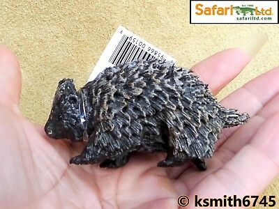 Safari PORCUPINE solid plastic toy wild zoo American animal NEW *