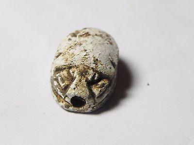 Zurqieh -Af516- Ancient Egypt , New Kingdom Stone Scarab. 1400 B.c 2