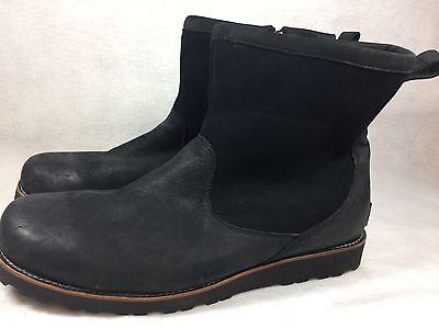 9536d523900 UGG AUSTRALIA HENDREN TL Black WATERPROOF LEATHER SHEEPSKIN BOOT MENS  1008140