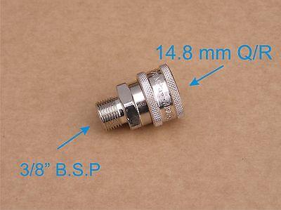"""Limpiadora de alta presión Premuim Acero Cierre rápido 14.8mm HEMBRA / 3/8"""""""