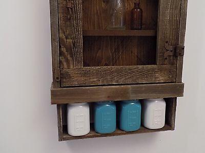 Reclaimed Rustic Medicine Cabinet Door Choice Mesh Glass Mirror