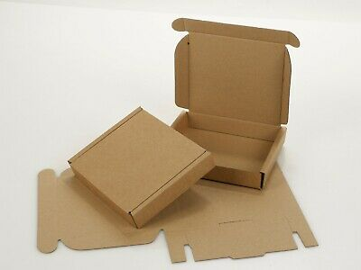 Small Royal Mail Large Letter Cardboard Postal Pizza Style Mailing Folding Boxes 6