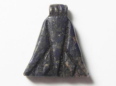Zurqieh-Af497-  Ancient Egypt, 18Th Dynasty, Lapis Lazuli Lotus Flower Pendant