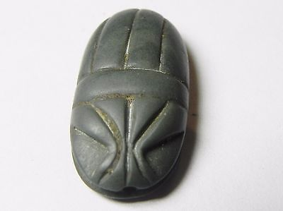 Zurqieh - Af817- Ancient Egypt , New Kingdom Stone Scarab. 1400 B.c 4