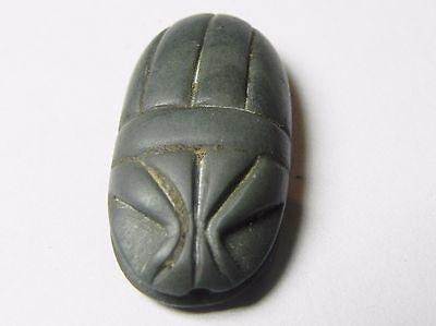 Zurqieh - Af817- Ancient Egypt , New Kingdom Stone Scarab. 1400 B.c 4