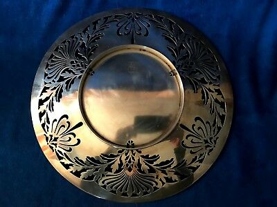 1907 Nouveau Sterling Silver Whiting Manufacturing Reticulated Platter 7