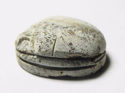 Zurqieh -Af637- Ancient Egypt ,2Nd Intermediate Stone Scarab. 1782 - 1570 B.c