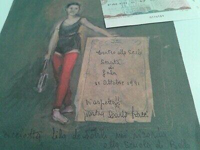 """Biglietto Palco Scala Di Milano """"Gala Per Carla Fracci"""" 31/10/1991 5"""