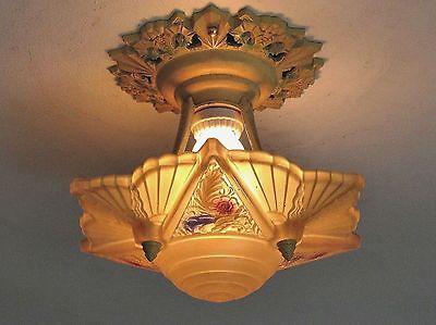 STELLAR! Antique ART DECO Starbust Light Fixture Excellent Condition - Restored! 6