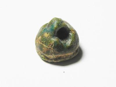 Zurqieh - Ancient Egypt - 18Th Dynasty , 1400 B.c , Faience Bead 2