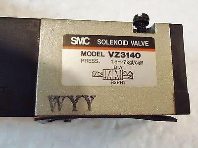 4 USED SMC VZ3140 SOLENOID VALVE, PRESS: 1.5,,,,,7Kgf/cm/2. 2