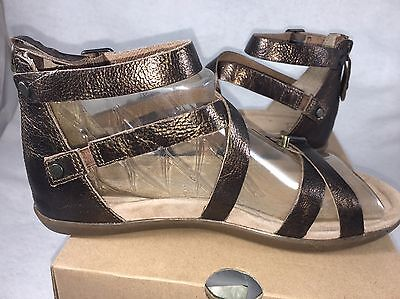 7ce4f805368 9 of 12 UGG WOMEN S CHERIE GOLD Metallic PONY BROWN LEATHER GLADIATOR  SANDALS 1009851