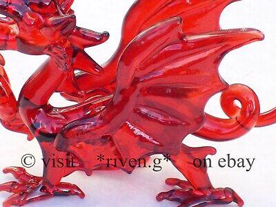 WELSH RED DRAGON FIGURINE@WALES Glass Gift@ICONIC FLAG@Baner Cymru@Y DDRAIG GOCH 10