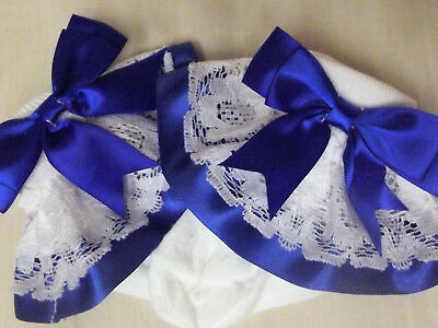 Dream Girls Ribbon Bow Choice 16 Colours Frilly Socks All Sizes Or Reborn Dolls 5