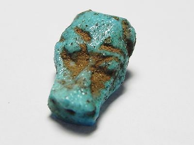 ZURQIEH - af987- ANCIENT EGYPT. NICE FAIENCE HEAD OF A LION? AMULET. 1400 B.C 4