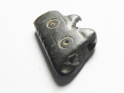 Zurqieh - Ancient Egypt , Byzantine Stone Pendant, 600 - 800 A.d 3