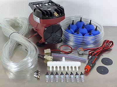 Hailea ACO-007 Transportbelüfter 12V PKW Kolbenkompressor Luftpumpe 140 L//min