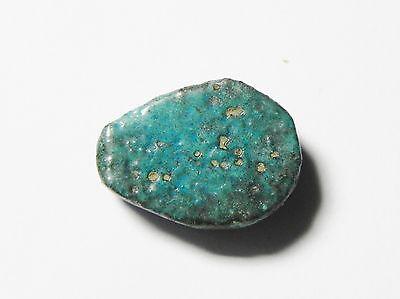 ZURQIEH - mk2350- ANCIENT EGYPT , TEL AMARNA  FAIENCE SCARAB / BEAD , 1400 B.C 3 • CAD $94.50