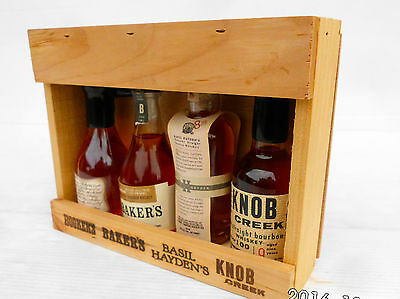 Jim Beam Small Batch Miniature Set In Timber Cabinet -Features Round Knob Creek! 5