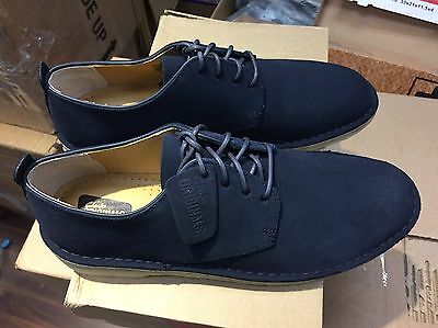 Men/'s Clarks Originals Desert London Midnight Suede Shoes 26122624