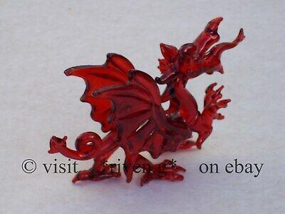 WELSH RED DRAGON FIGURINE@WALES Glass Gift@ICONIC FLAG@Baner Cymru@Y DDRAIG GOCH 4