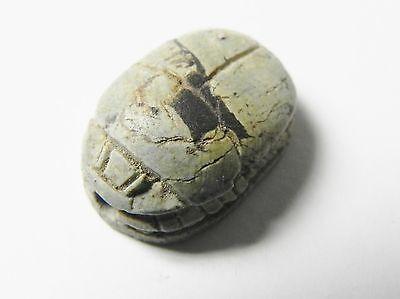 Zurqieh -Af337- Ancient Egypt , New Kingdom Stone Scarab. 1400 B.c 2