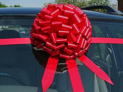 12 mtrs of ribbon. Large Big bow for car COMPLETE WRAP AROUND KIT ALL COLOURS