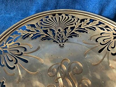 1907 Nouveau Sterling Silver Whiting Manufacturing Reticulated Platter 4