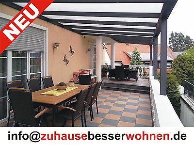 terrassen berdachung carport aluminium terrassendach anthrazit vsg glas 3x4m eur. Black Bedroom Furniture Sets. Home Design Ideas