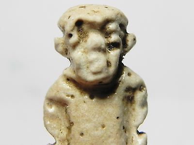 Zurqieh -Q252- Ancient Egypt , Faience Pataikos Amulet. 1075 - 600 B.c 6