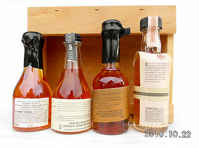 Jim Beam Small Batch Miniature Set In Timber Cabinet -Features Round Knob Creek! 8