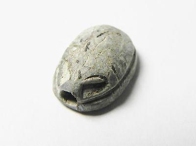Zurqieh -Af296- Ancient Egypt , New Kingdom Stone Scarab. 1400 B.c