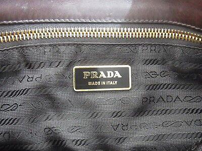 a0657bc52ed7e ... Original Prada Milano Tasche Schultertasche Leder weiß braun leather  bag 8