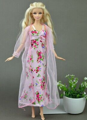 2pcs/set Fashion Clothes For Barbie Doll Dress Pajamas Lace Lingerie Sleepwear 3