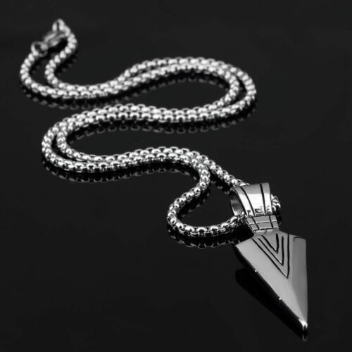 Men's Fashion Jewelry Gold Silver Arrow Head Pendant Long Chain Necklace Gift 8