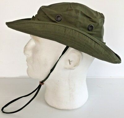 3287af1d9b285 ... Unissued Original 1969 Vietnam O.d. Jungle Boonie Hat W insect Net 6 7 8